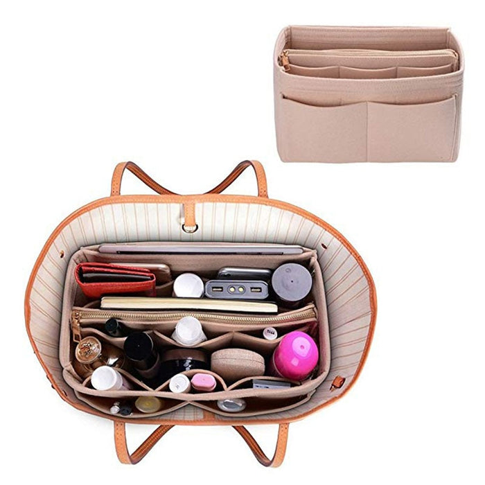 Make up Organizer Felt Insert Bag For Handbag Travel Cosmetic Bags - GEEKMANN✓