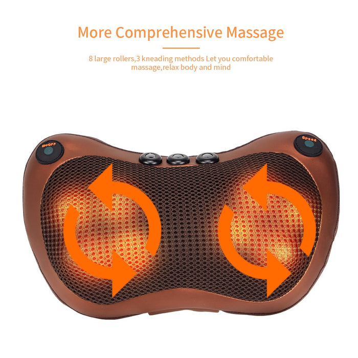 Head Neck Massager Car Back Waist Body Electric Pillow - GEEKMANN✓