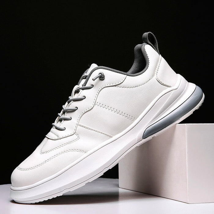 PU Leather fashion Men's Sneakers leather air cushion shoes - GEEKMANN✓