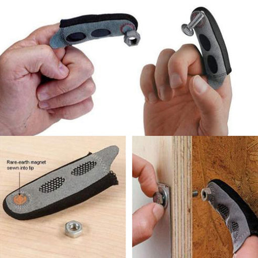 Magnetic Fingertip Sleeve For Convenience Tools Wood - GEEKMANN✓