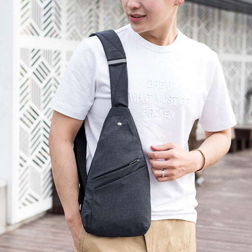 Male Anti Theft Bagpack Men Sling One Shoulder Pocket Bag - GEEKMANN✓