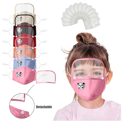 Kids Child Washable Reusable Face Mask With Filters - GEEKMANN✓