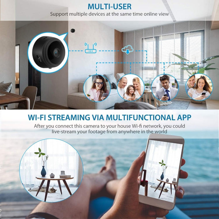 Mini Home Security wireless wifi Camera Night Vision 1080P - GEEKMANN✓