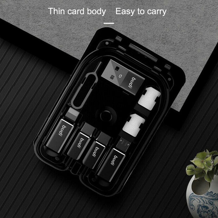 Multi function Universal Adaptor Card Storage data cable USB Box - GEEKMANN✓