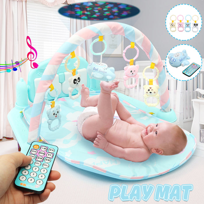 Music Baby Mat Gym 3 in1 Newborn Infant Baby Musical Mat - GEEKMANN✓
