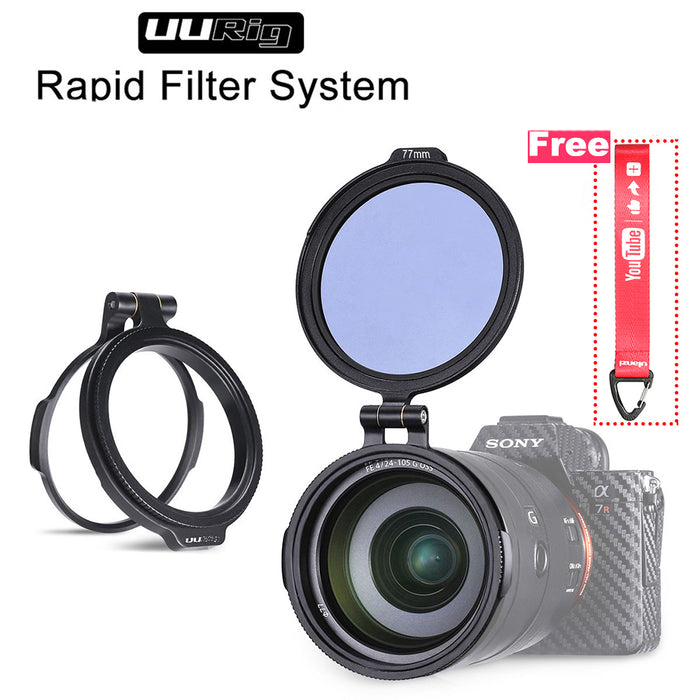 ND Filter Quick Switch Ring Bracket DSLR Lens Flip Mount - GEEKMANN✓