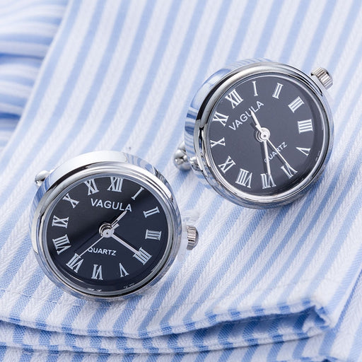 Clock Cuff links With Battery Mechanical Gemelos - GEEKMANN✓