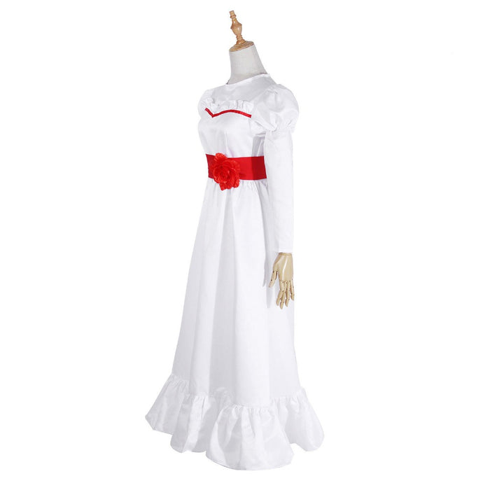 Conjuring Doll Annabelle Dress Halloween Costume Cosplay Suit - GEEKMANN✓