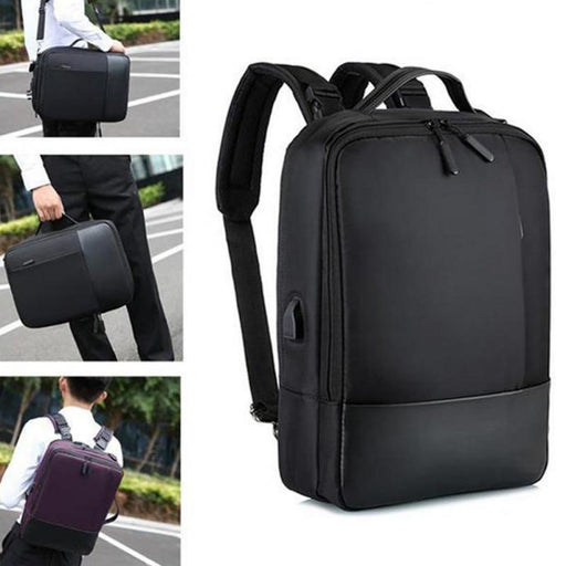 Office Laptop Bag Soft With USB Charging Port Zipper - GEEKMANN✓