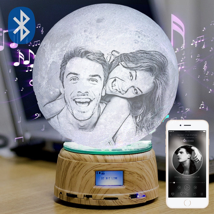 Photo/Text Custom 3D printing Night Lamp LED Moon Light - GEEKMANN✓