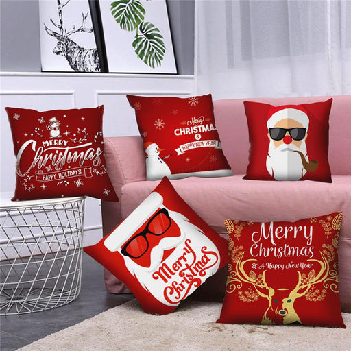 45x45cm Snowflake Santa Claus Christmas Pillowcase - GEEKMANN✓