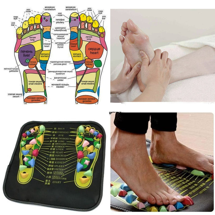 Reflexology Walk Stone Foot Leg Pain Walk Massager Mat Health Care - GEEKMANN✓