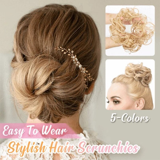 Stylish Hair Scrunchies Synthetic Hair Chignons Extensions Messy bun - GEEKMANN✓