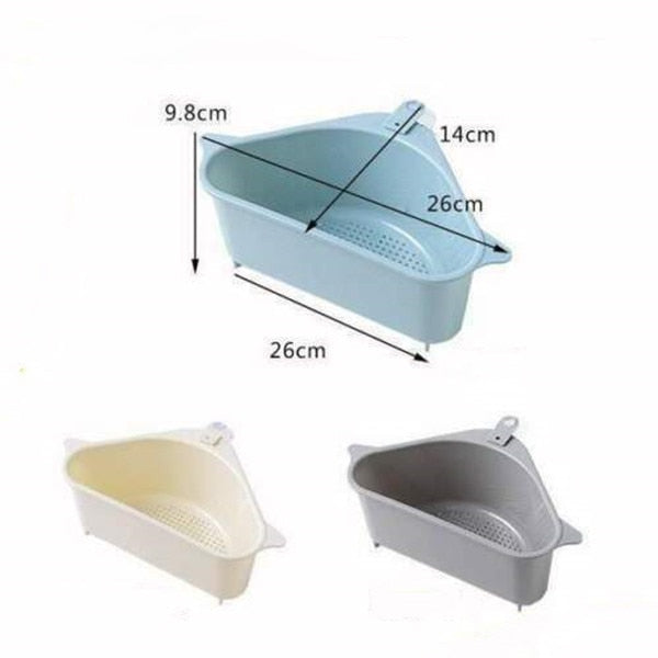 Triangle Sink Drain Shelf Drain Rack Storage Holders Basket - GEEKMANN✓