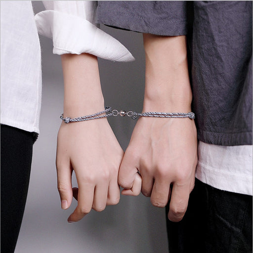 925 Sterling Silver Couple Bracelets For Lovers - GEEKMANN✓