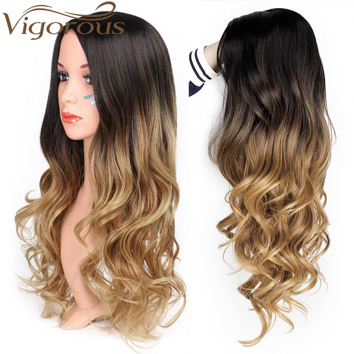 Natural Hair Part Synthetic Wigs for Women - GEEKMANN✓