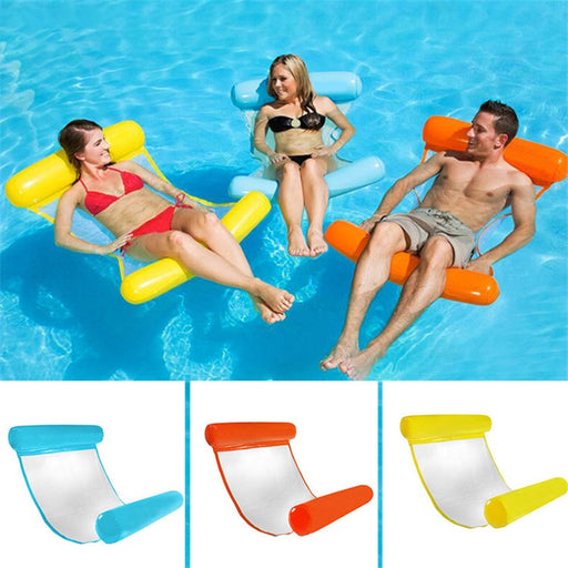 Water hammock recliner inflatable floating Swimming Mattress sea - GEEKMANN✓