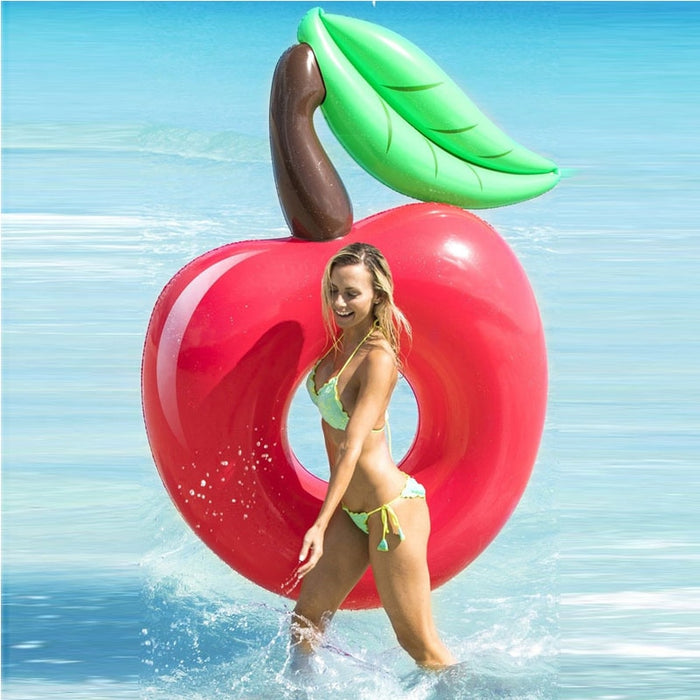 Giant Red Cherry Swimming Ring Apple Pool Float - GEEKMANN✓