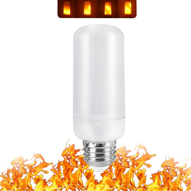 LED Flame Lamp Light Bulb Flame Effect Fire Lamps - GEEKMANN✓