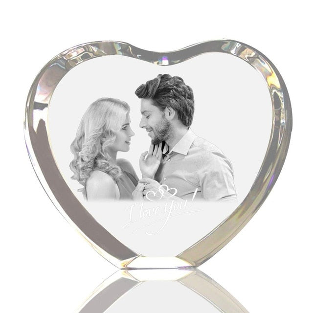 Personalized Lover Gift Crystal Photo Night Lamp - GEEKMANN✓