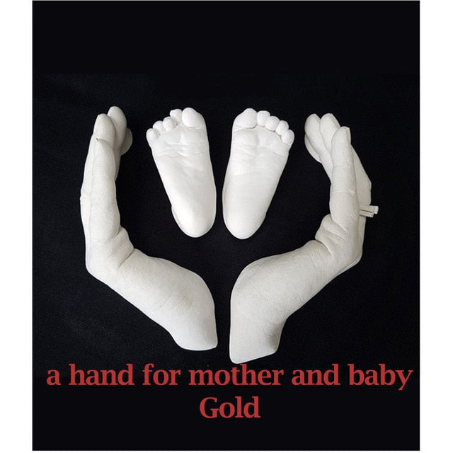 3D Hand Foot Print Mold for Baby Powder Plaster Casting Kit - GEEKMANN✓