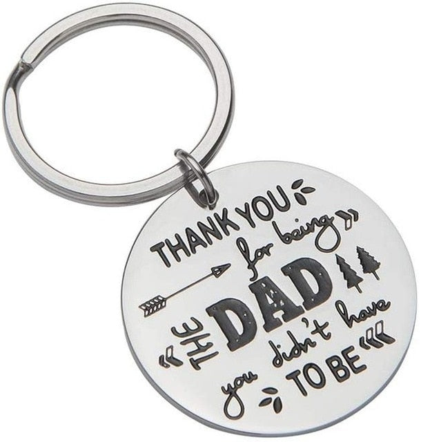 Father Day Gifts for Step Dad Keychain Birthday Gifts - GEEKMANN✓