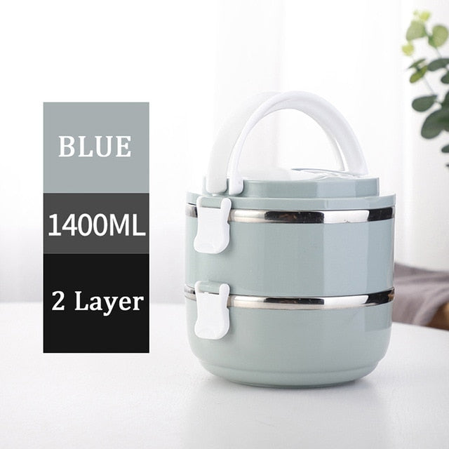 Stainless Steel Japanese Lunch Box Thermal For Food Portable LunchBox - GEEKMANN✓