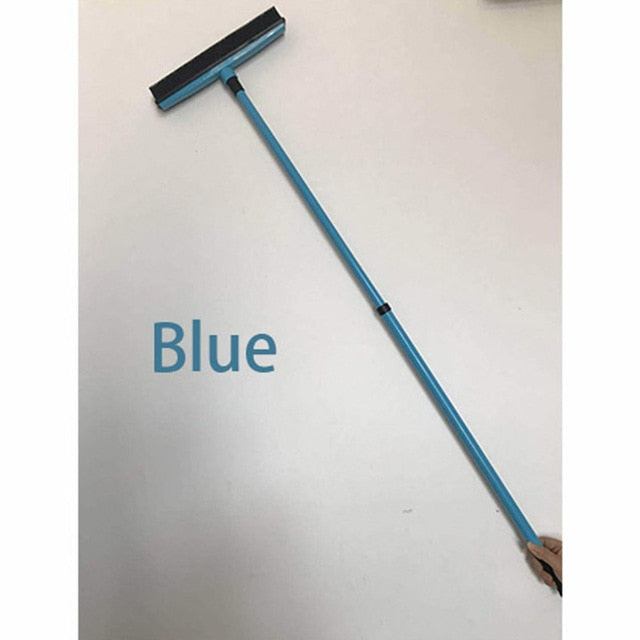 Long Push Rubber Bristles Sweeper Squeegee Broom for Pet - GEEKMANN✓