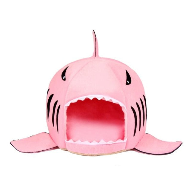 Shark Pet Bed Warm Pet Soft Cartoon House Cat Washable Puppy Bed - GEEKMANN✓