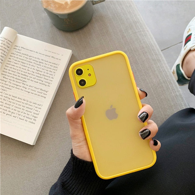 Mint Hybrid Simple Matte Bumper Phone Case For iPhone - GEEKMANN✓