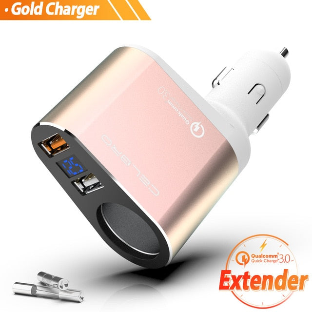 Car Quick Charger Dual Usb Charger - GEEKMANN✓