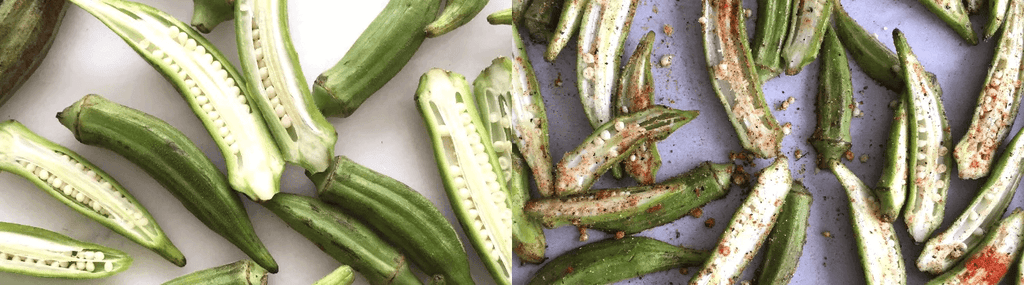 Buck Naked Kitchen - Roasted Okra with Garlic-Mayo Dip 2