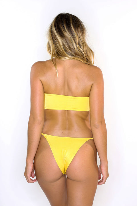 Eva Yellow Tie Top