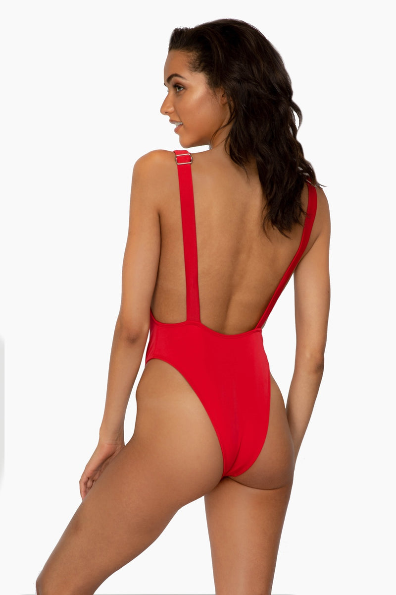 Sonia Red Overalls One Piece