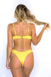 Eva Yellow V-Shaped Bottoms
