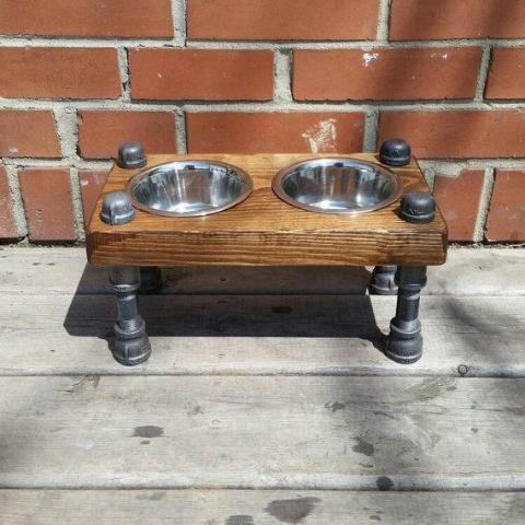 Dog Bowl - Pipe And Wood Designs