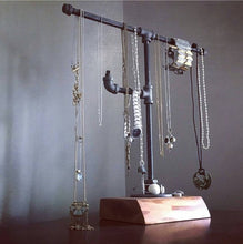 Load image into Gallery viewer, Jewelry Stand - Pipe And Wood Designs