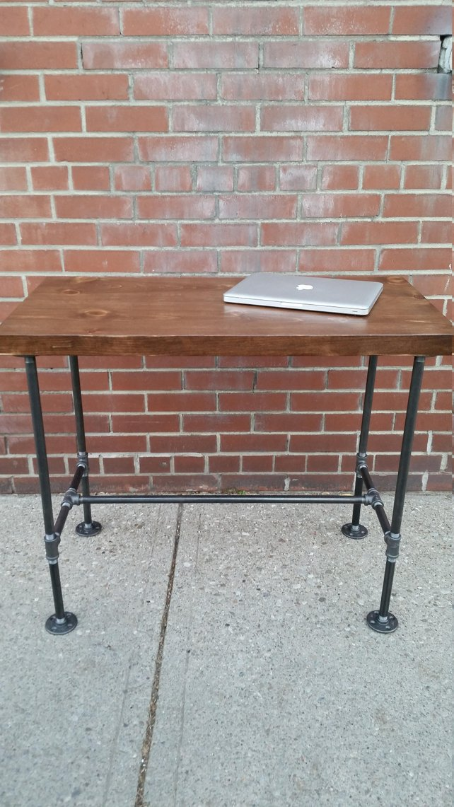Rustic Steel and Wood Desk - Pipe And Wood Designs