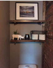 Load image into Gallery viewer, Wood Shelves with Pipe Mount  (Set of one or two) - Pipe And Wood Designs