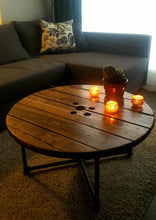 Load image into Gallery viewer, Spool Coffee Table - Pipe And Wood Designs
