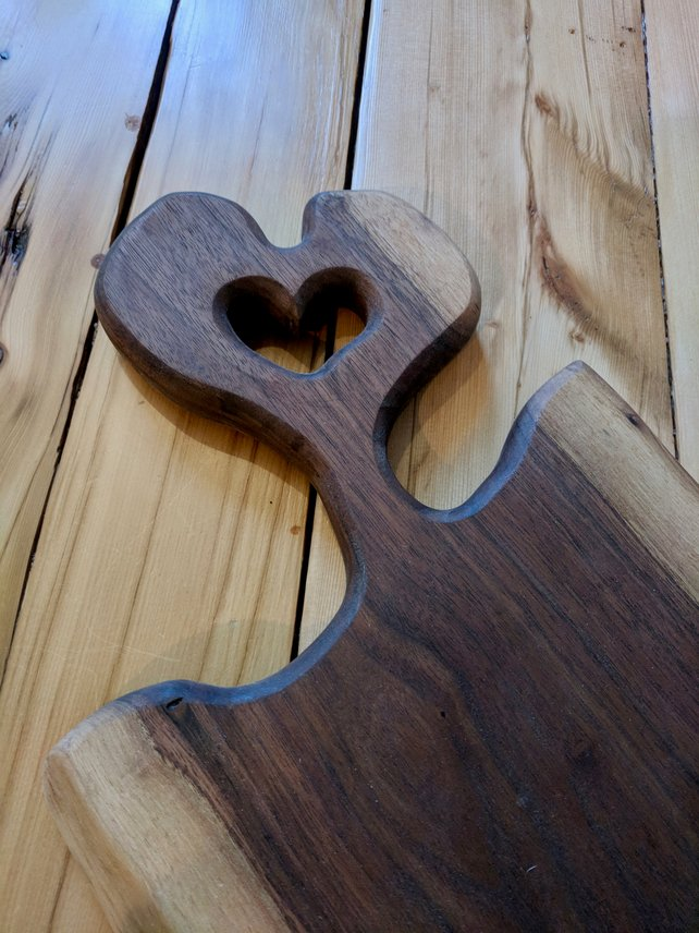 Unique Heart Shaped Board - Pipe And Wood Designs