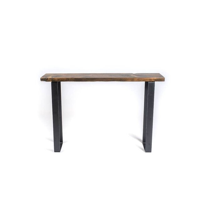 Steel and Wood Console Table - Pipe And Wood Designs