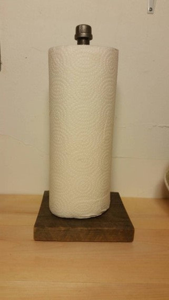 Paper Towel Holder - Pipe And Wood Designs