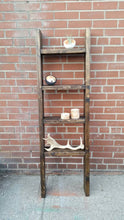 Load image into Gallery viewer, Rustic Wood Ladder Shelf - Pipe And Wood Designs