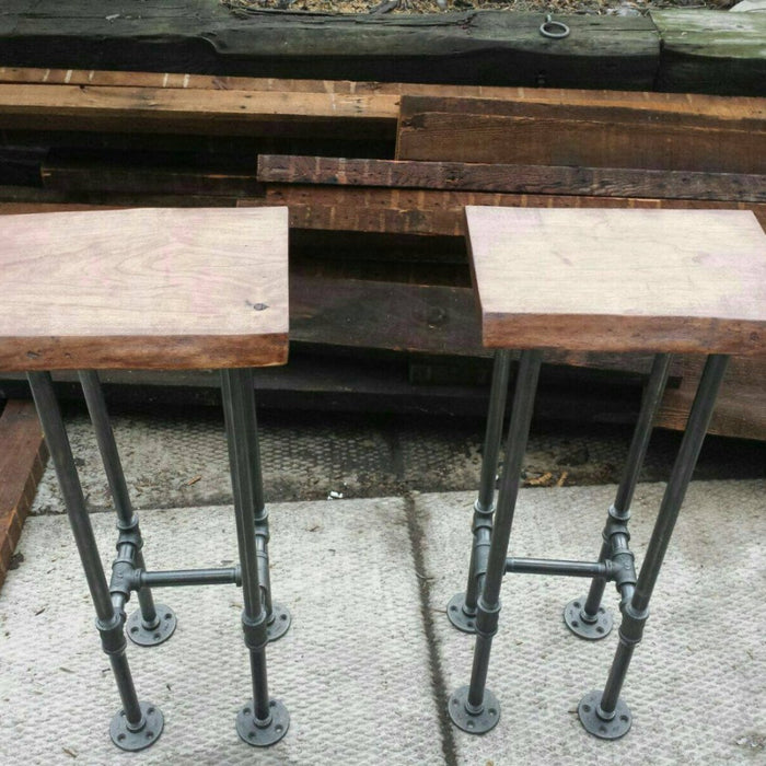 Bar stool #2 - Pipe And Wood Designs