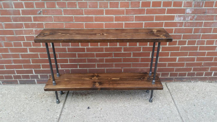One or Two shelved console table - Pipe And Wood Designs