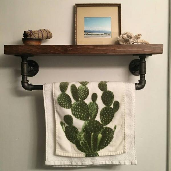 Pipe Towel Rack - Pipe And Wood Designs