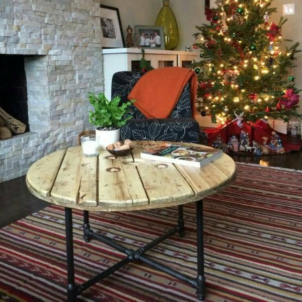 Pleasant Spool Coffee Table Caraccident5 Cool Chair Designs And Ideas Caraccident5Info