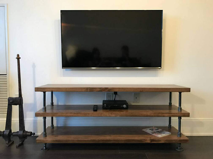 Industrial Pipe and Wood Console Table - Pipe And Wood Designs