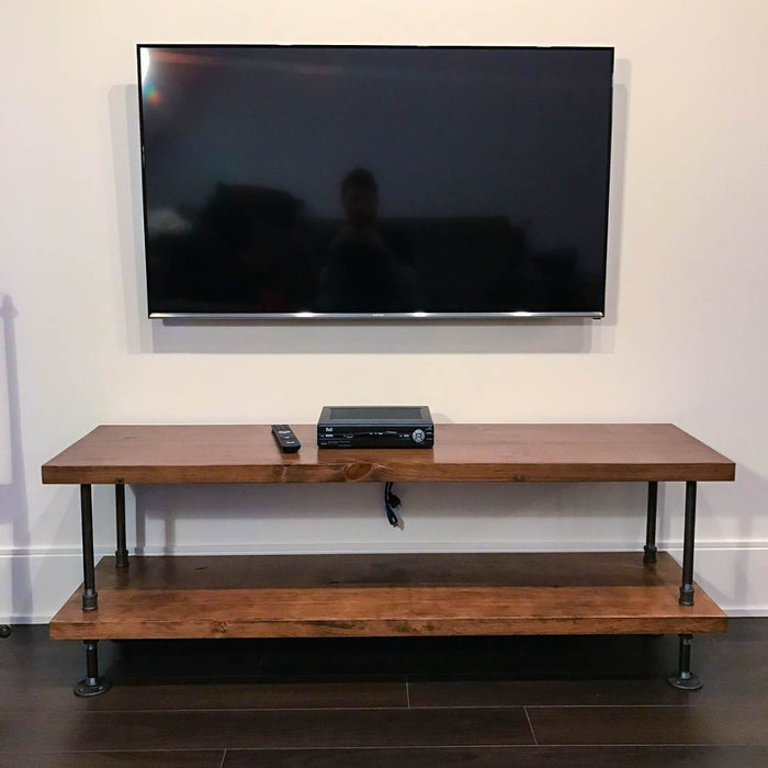 Rustic Industrial TV Stand - Pipe And Wood Designs